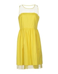 Max And Co. Knee Length Dresses Yellow