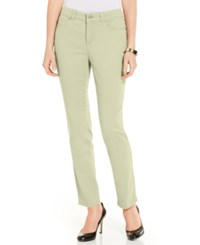Charter Club Colored Skinny Ankle Jeans Cream Stone
