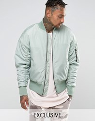 Other Uk Oversized Bomber Jacket Blue