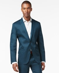 Inc International Concepts Men's Collins Slim Fit Blazer Only At Macy's Dark Teal