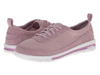Rockport Rock On Air Comfort Sneaker Dusty Lilac Suede Mesh Washable Women's Shoes Pink