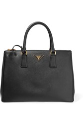Prada Galleria Large Textured Leather Tote Black