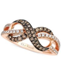 Le Vian Chocolatier Diamond Infinity Ring 3 8 Ct. T.W. In 14K Rose Gold