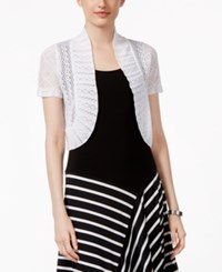 Jessica Howard Knit Bolero Shrug Cardigan White