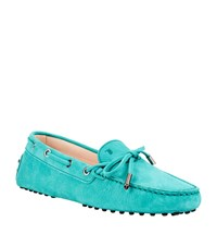 Tod's Gom Heaven Lace Driving Shoe Female Mid Green