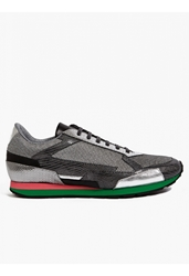 Raf Simons Sterling Ruby Men's Metallic Leather Sneakers