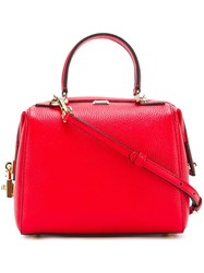 Dolce And Gabbana Mini 'Miss Sicily' Bowler Tote Red