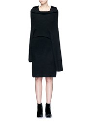 Toga Archives Detachable Overlay Wool Knit Dress Black