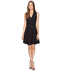 Kate Spade Stripe Sweater Dress Black Multi Women's Dress
