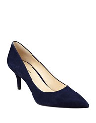 Nine West Margot Suede Pumps Dark Navy Blue