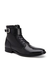 Calvin Klein Stokely Calf Leather Boots Black