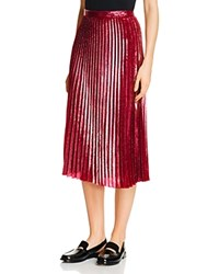Whistles Kitty Metallic Pleated Skirt Pink