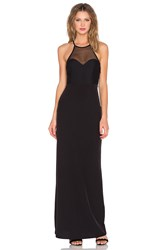 Donna Mizani Racer Front Mesh Gown Black