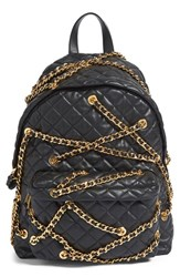 Moschino 'Letters' Chain Wrapped Quilted Leather Backpack