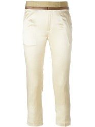 Haider Ackermann Contrast Waist Trousers Nude And Neutrals