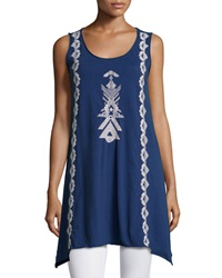 Jwla Embroidered Tank Tunic Navy