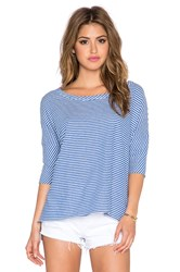 Chaser Striped Boxy Pullover Blue