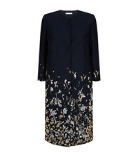 Oscar De La Renta Embroidered Metallic Coat Female Multi