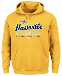 Majestic Men's Nashville Predators Intense Defense Hoodie Yellow