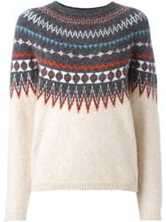 Closed Intarsia Jumper Nude Neutrals