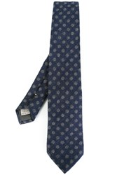Canali Dotted Pattern Tie Blue