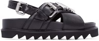 Mcq By Alexander Mcqueen Black Bullet Trim Sandals