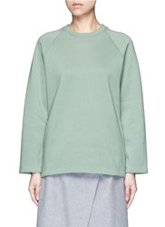 Acne Studios 'Cassie' Cotton Blend Fleece Sweatshirt Green