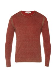 John Varvatos Over Dye Silk And Cashmere Blend Sweater