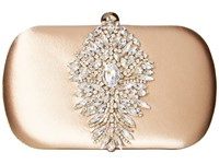 Badgley Mischka Aurora Nude Clutch Handbags Beige
