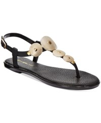 Bandolino Loocho Flat Jelly Sandals Black