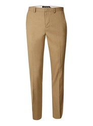 Topman Brown Camel Jersey Skinny Fit Suit Pants