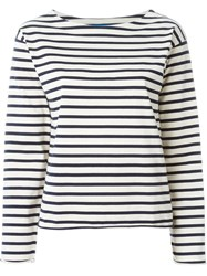 Mih Jeans Striped Longsleeved T Shirt Nude And Neutrals