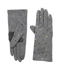 Echo Touch Pop Dot Gloves Heather Grey Extreme Cold Weather Gloves Gray