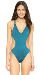 Milly Italian Solid Swim Hvar Maillot Seagrass