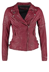 Freaky Nation Glory Leather Jacket Purple Red Dark Red