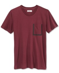 William Rast Men's Pocket T Shirt Port Royal