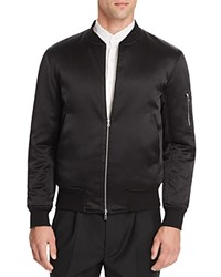 Ovadia And Sons Silk Reversible Bomber Jacket Black Olive