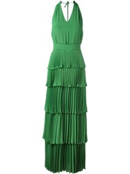 N 21 No21 Tiered Column Dress Green