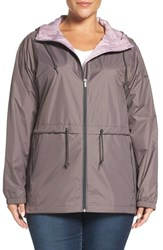 Columbia Plus Size Women's 'Arcadia' Hooded Waterproof Casual Jacket Pulse