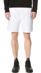 Lacoste Diamond Weave Taffeta Tennis Shorts White