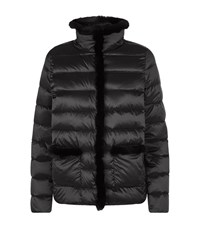 Max Mara Weekend Fur Trim Quilted Puffa Jacket Female Black