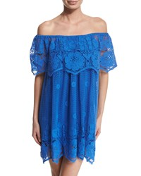 Miguelina Angelique Crocheted Lace Dress Size Xs French Blue
