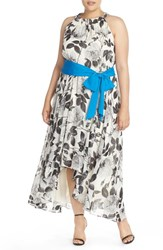Plus Size Women's Eliza J Print Chiffon High Low Maxi Dress
