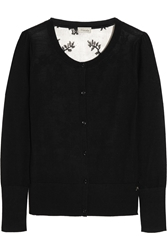 Temperley London Marnie Wool Blend And Lace Cardigan