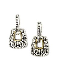 Effy Balissima Sterling Silver And 18K Yellow Gold Textured Drop Earrings