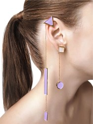 Sylvio Giardina Collezione Three 3 Shape Earrings