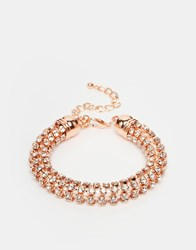 Lipsy Twisted Chain Bracelet Rosegold