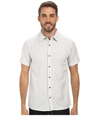 Black Diamond S S Spotter Shirt Ice Aluminum Gingham Men's Short Sleeve Button Up White