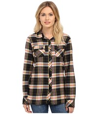 Volcom Crave You Long Sleeve Top Black Women's Long Sleeve Button Up