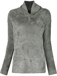 Transit Roll Neck Ribbed Sweater Grey